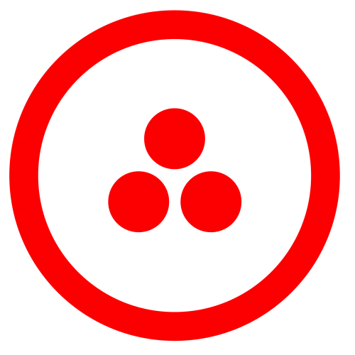 Bandera de la Paz de los Estados Americanos desde el año 1935, de acuerdo a lo establecido en el Pacto Roerich firmado en el salón Oval e la Casa Blanca para la protección de la Cultura.
