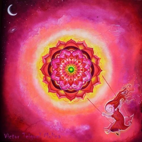Mandalas  Círculos sagrados Esa es la convocatoria. En la profecía Hopi se recuerda que este es el tiempo del retorno al círculo. Agragamos belleza e intención y un mantra poderoso entre los mantras poderosos.  Es para el beneficio de todos. Cantemos por nuestra liberación, por nuestra abundancia y prosperidad, por nuestra realización profunda en este paso por la Tierra y por una buena muerte, que nos permita fundirnos con la Divinidad Omnisciente.