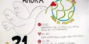 Caminata por la Paz este sábado 21 de abril